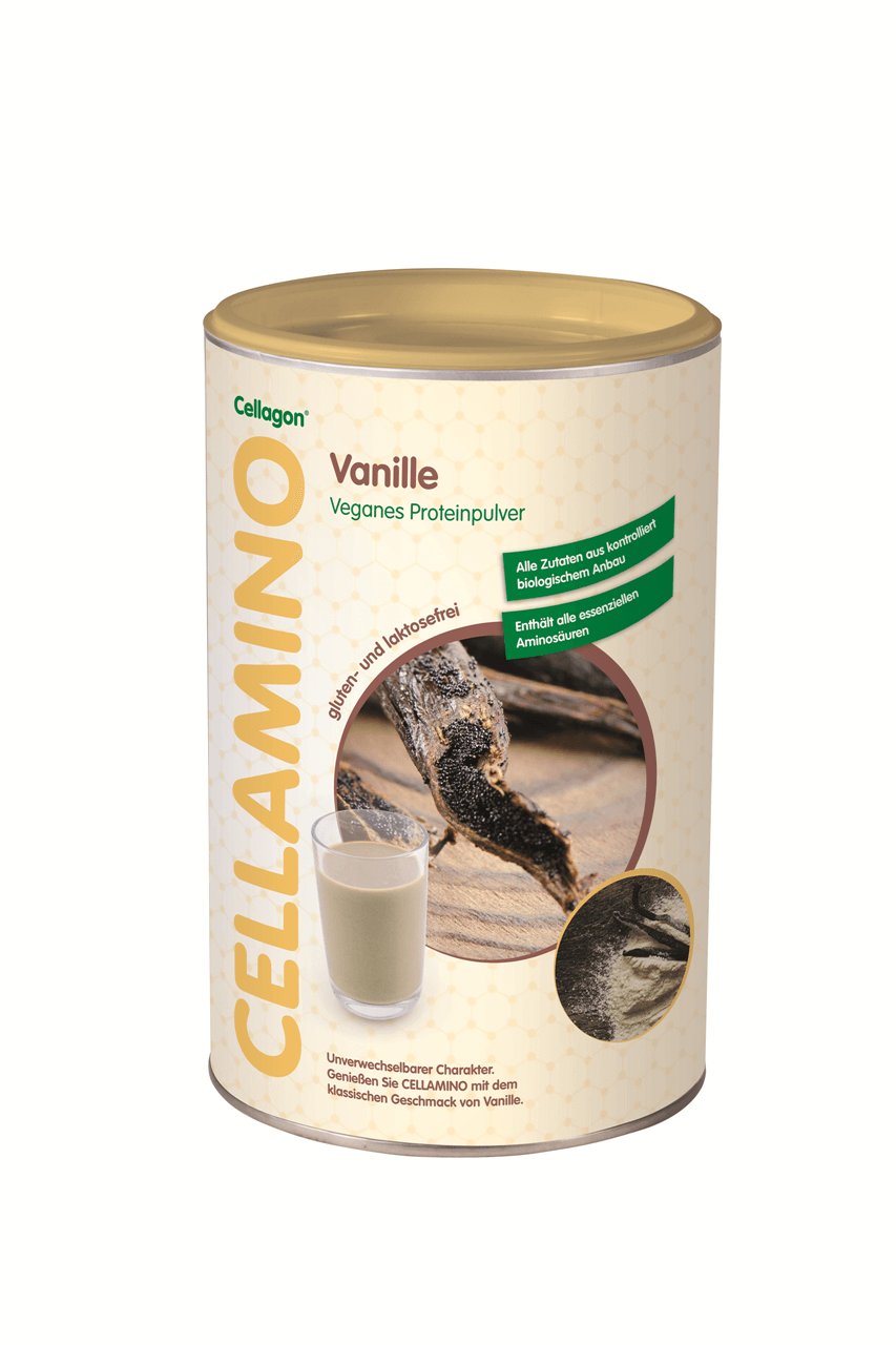 Eiweißpulver Cellagon CELLAMINO vegan Packung
