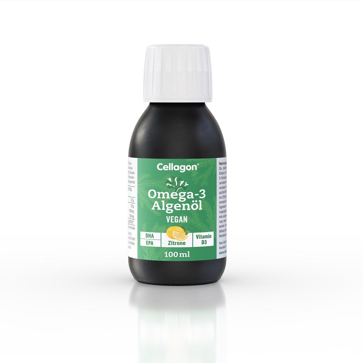 Cellagon Omega-3 Algenöl - Zitrone