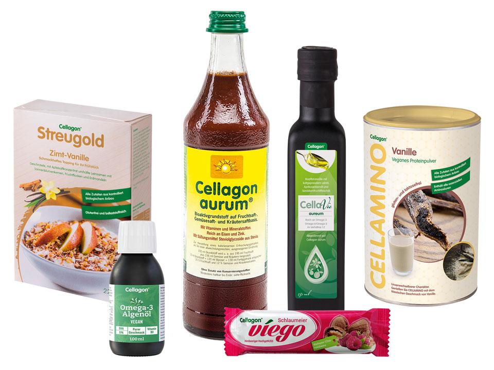 Cellagon Lebensmittel Sortiment