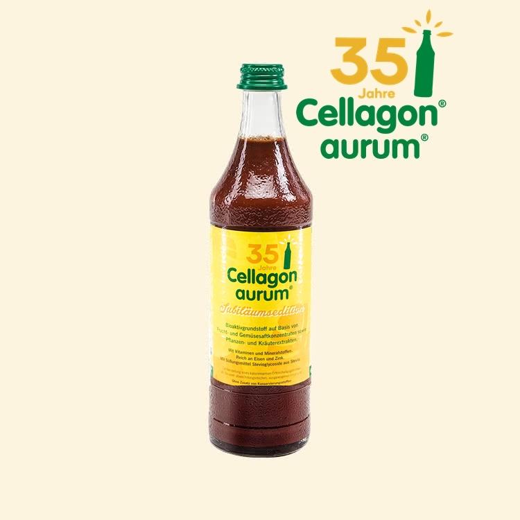 Mikronährstoffkonzentrat Cellagon aurum Jubiläumsedition Flasche